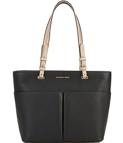 MICHAEL Michael Kors Bedford Medium Top Zip Pocket Pebbled Leather Tote Bag