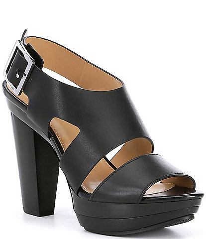 cbc35a1486e MICHAEL Michael Kors Carla Leather Platform Block Heel Sandals