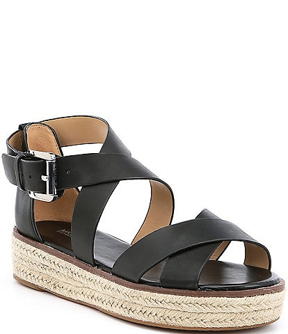 ad2a15c7a4f39a MICHAEL Michael Kors Darby Vachetta Leather Flatform Espadrille Sandals