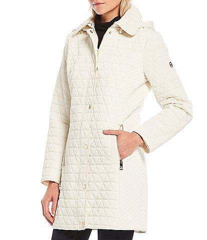 MICHAEL Michael Kors Detachable Hood Quilted Coat