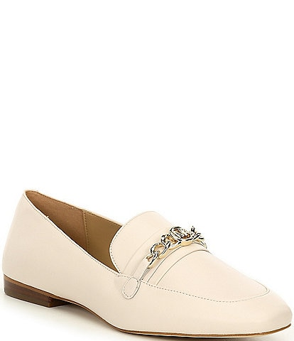MICHAEL Michael Kors Dolores Chain Detail Leather Loafers