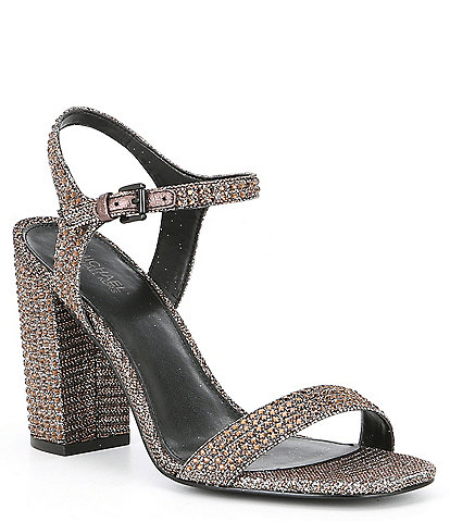 MICHAEL Michael Kors Francine Jewel Embellished Block Heel Dress Sandals