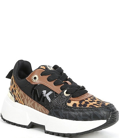 MICHAEL Michael Kors Girls' Cosmo Cheetah Print Lace-Up Sport Sneakers (Youth)