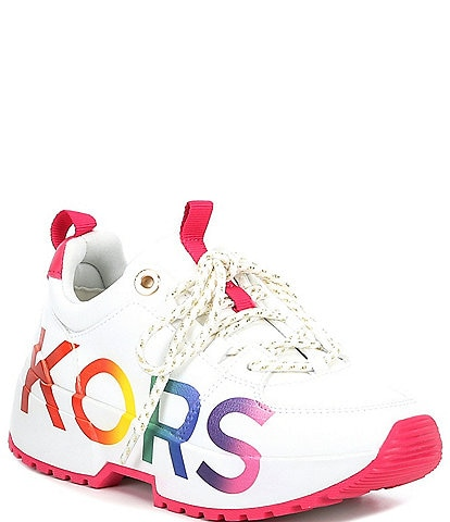 MICHAEL Michael Kors Girls' Cosmo Meetu Rainbow Detail Lace-Up Sneakers (Youth)