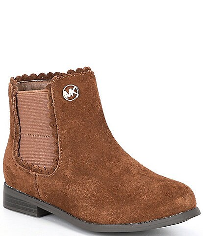 MICHAEL Michael Kors Girls' Emma Bonnie Suede Chelsea Boots (Youth)
