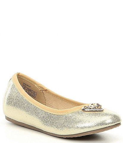 MICHAEL Michael Kors Girls' Faye Nollie Ballerina Flats Youth