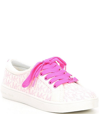 MICHAEL Michael Kors Logo Girls' Ima Rebel Lace Up Sneakers (Youth)