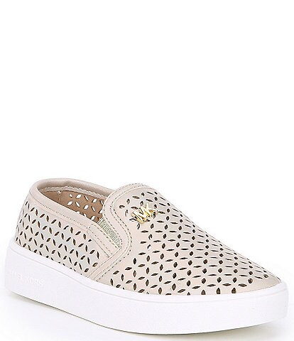 MICHAEL Michael Kors Girls' Jem Olivia Metallic Cut-Out Sneakers Youth