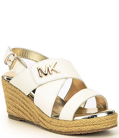 MICHAEL Michael Kors Girls' Mira Sabine Leather Wedge Sandals Toddler