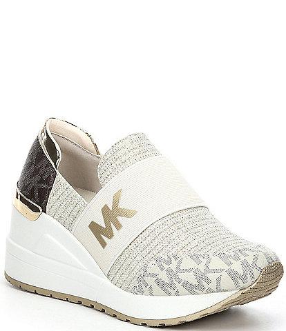 MICHAEL Michael Kors Girls' Neo Flex Logo Detail Slip-On Wedge Sneakers (Youth)