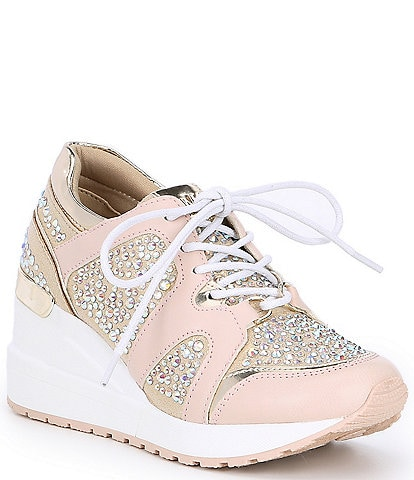 MICHAEL Michael Kors Girls' Neo Krystal Wedge Sneakers Youth