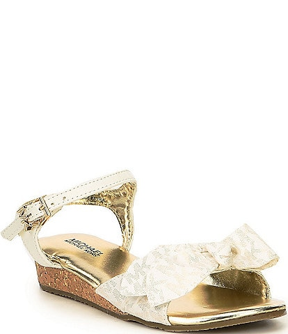 MICHAEL Michael Kors Girls' Perry Maritz Logo Print Wedge Sandals Toddler