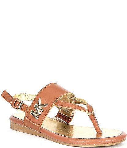MICHAEL Michael Kors Girl's Sydney Ann Leather Sandals (Youth)