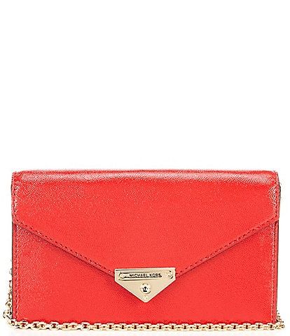 Michael Kors Grace Medium Envelope Leather Snap Clutch