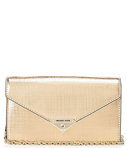 Michael Kors Grace Metallic Medium Envelope Clutch