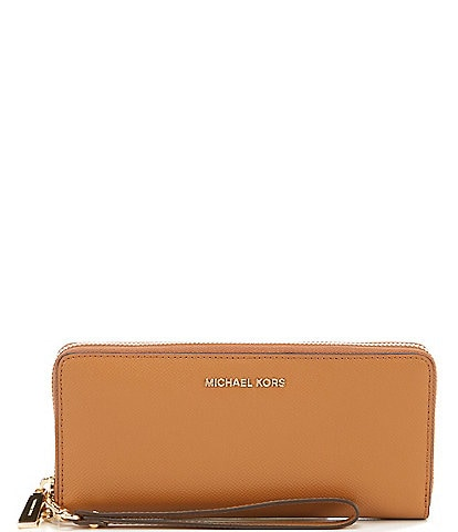 e10329cffaa4 MICHAEL Michael Kors Gold-Tone Jet Set Continental Multifunction Phone  Wallet