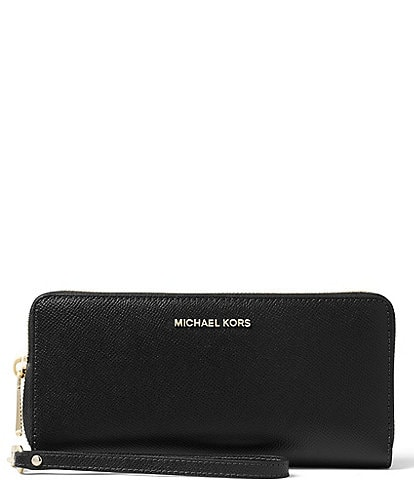 Michael Kors Gold-Tone Jet Set Continental Multifunction Phone Wallet