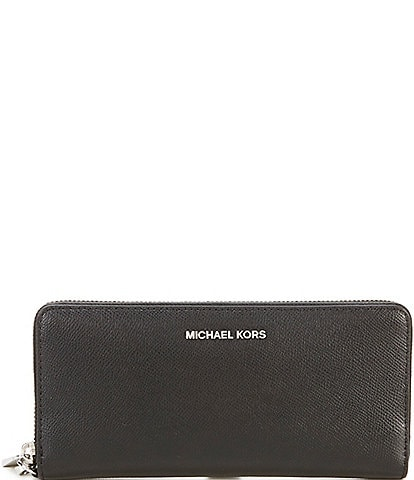 Michael Kors Silver-Tone Jet Set Continental Multifunction Phone Wallet