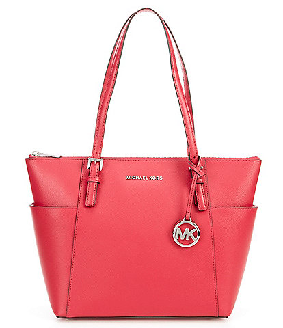 Michael Kors Jet Set East West Silver Tone Tote Bag