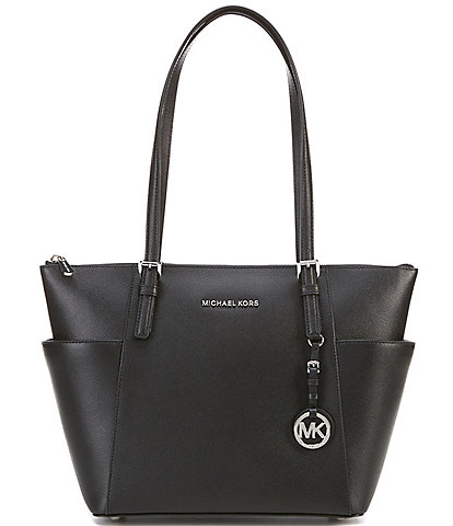 MICHAEL Michael Kors Jet Set East/West Silver-Tone Tote