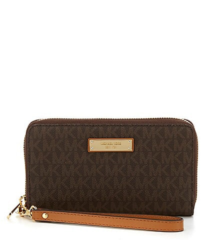 5c1452480d68 MICHAEL Michael Kors Jet Set Multifunction Phone Wallet