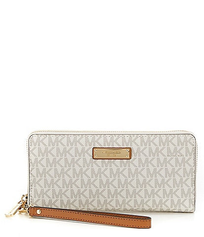 ba8f71b5b783 MICHAEL Michael Kors Jet Set Signature Continental Travel Canvas Wallet