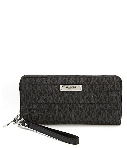 Michael Kors Jet Set Signature Continental Travel Twill Wallet