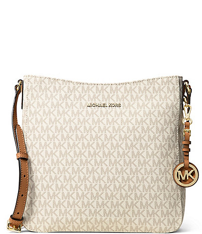 e5e64f9055 MICHAEL Michael Kors Jet Set Signature Large Cross-Body Bag