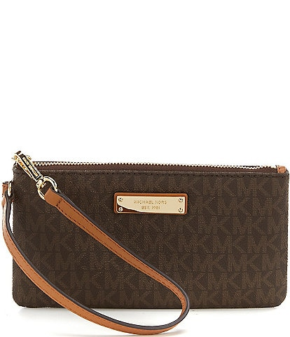 Michael Kors Jet Set Signature Medium Wristlet