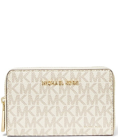 Michael Kors Jet Set Small Signature Zip Around Card Case