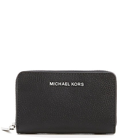 MICHAEL Michael Kors Jet Set Small Zip Around Leather Card Case