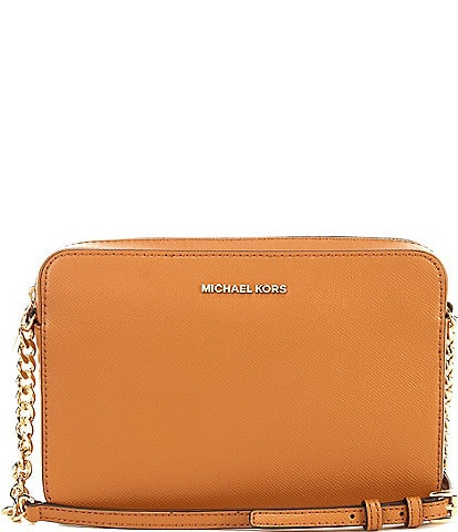 6c7f16544ec981 MICHAEL Michael Kors Jet Set Travel Large East/West Chain Strap Crossbody  Bag