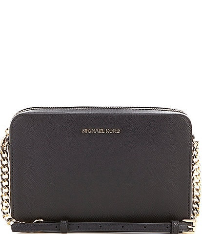 4126b1fade9a MICHAEL Michael Kors Jet Set Travel Large East West Chain Strap Cross-Body  Bag