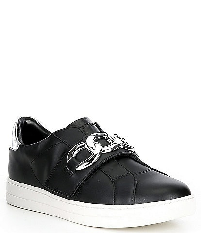 MICHAEL Michael Kors Kenna Leather Chain Hardware Detail Sneakers