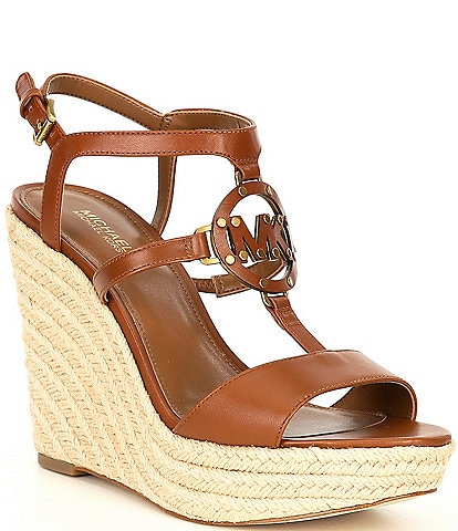 MICHAEL Michael Kors Kerry Leather Espadrille Wedges