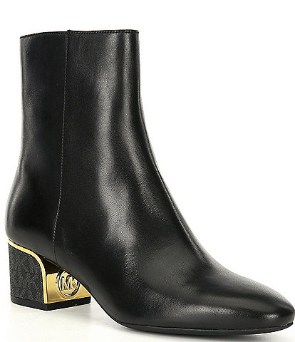 MICHAEL Michael Kors Lana Leather Flex Mid Block Heel Booties