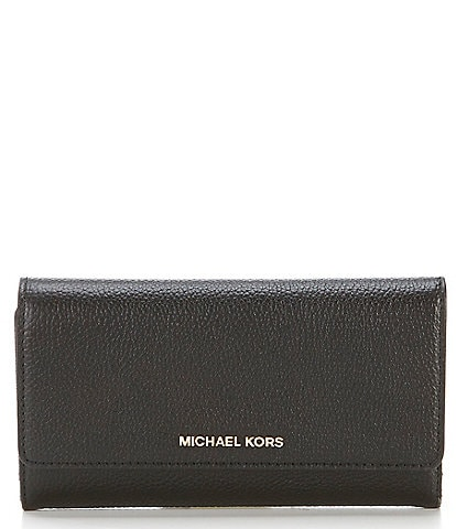 MICHAEL Michael Kors Large Trifold Gold Hardware Wallet