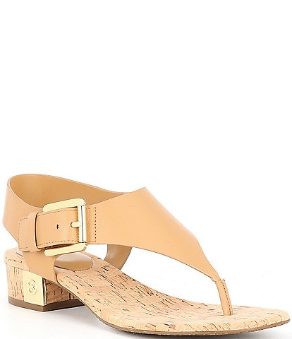 MICHAEL Michael Kors London Leather Thong Sandals