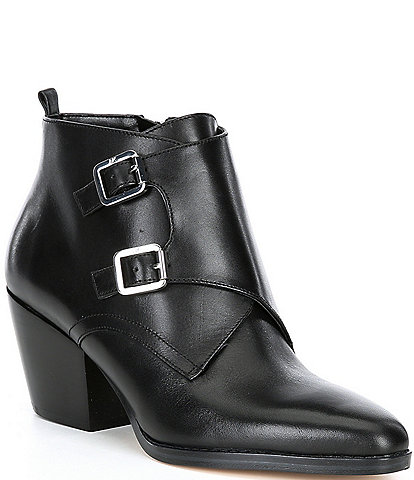 MICHAEL Michael Kors Loni Leather Block Heel Booties
