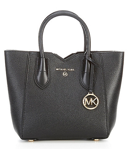 MICHAEL Michael Kors Mae Leather Small Messenger Crossbody Bag