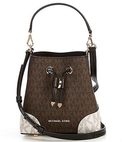 Michael Kors Signature Mercer Gallery Convertible Bucket Crossbody Bag