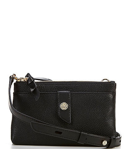 Michael Kors MK Charm Medium Tab Double Zip Phone Crossbody Bag