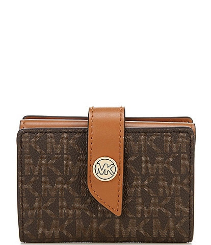 MICHAEL Michael Kors Signature MK Charm Small Tab Card Case Wallet