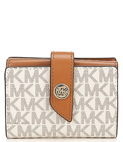 Michael Kors Signature MK Charm Small Tab Card Case Wallet