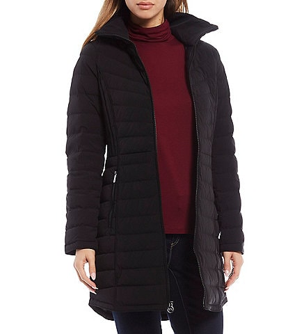 MICHAEL Michael Kors Packable Stretch Down Hooded Coat