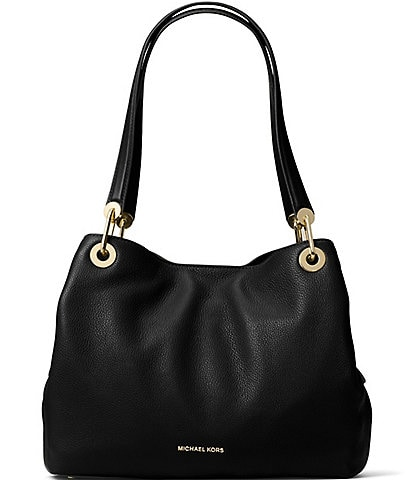 Michael Kors Gold-Tone Raven Large Shoulder Tote Bag