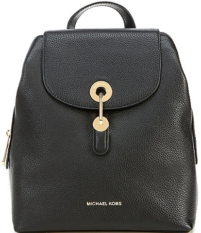 Michael Kors Raven Pebbled Leather Medium Backpack