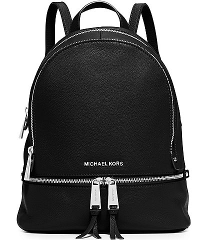 Michael Kors Rhea Medium Soft Pebble Leather Zip Backpack