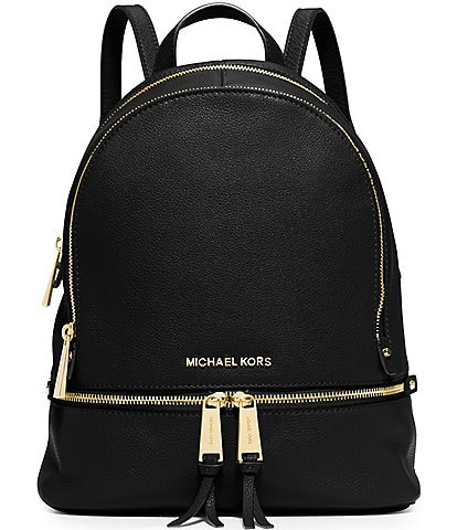 Michael Kors Rhea Zip Medium Pebble Leather Backpack