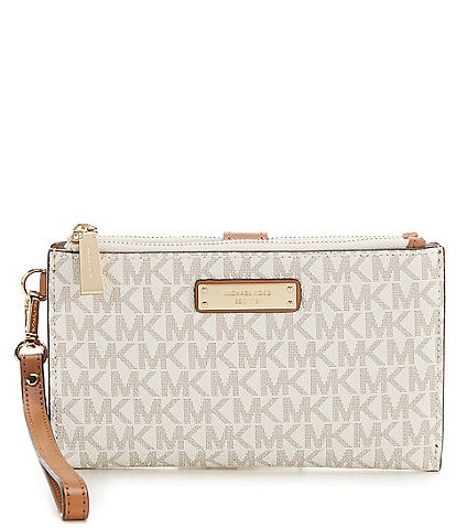 Michael Kors Signature Adele Double-Zip Wristlet